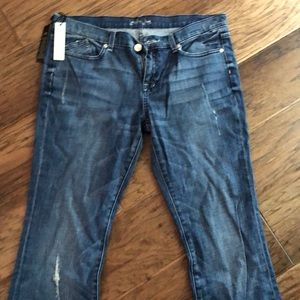 Brand new with tags weathered light denim jeans!